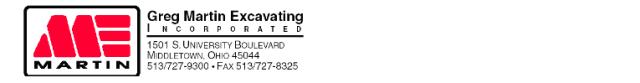 Martin Excavating Logo